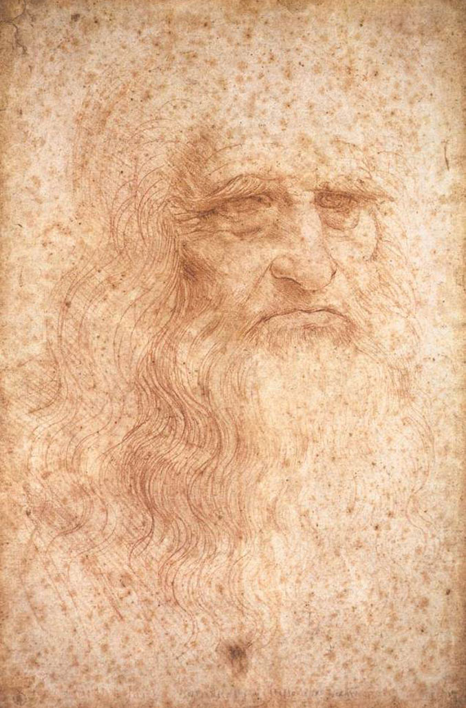 selfie / Self-portrait / Туринский автопортрет, Леонардо да Винчи / Leonardo da Vinci, 1512