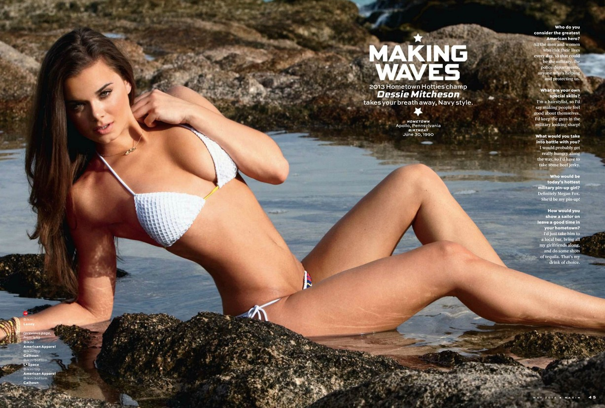 Dessie Mitcheson / Patriotic pin-ups in Maxim US may 2014 by Marley Kate