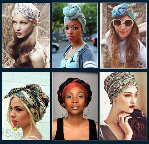платок на голове, тюрбан