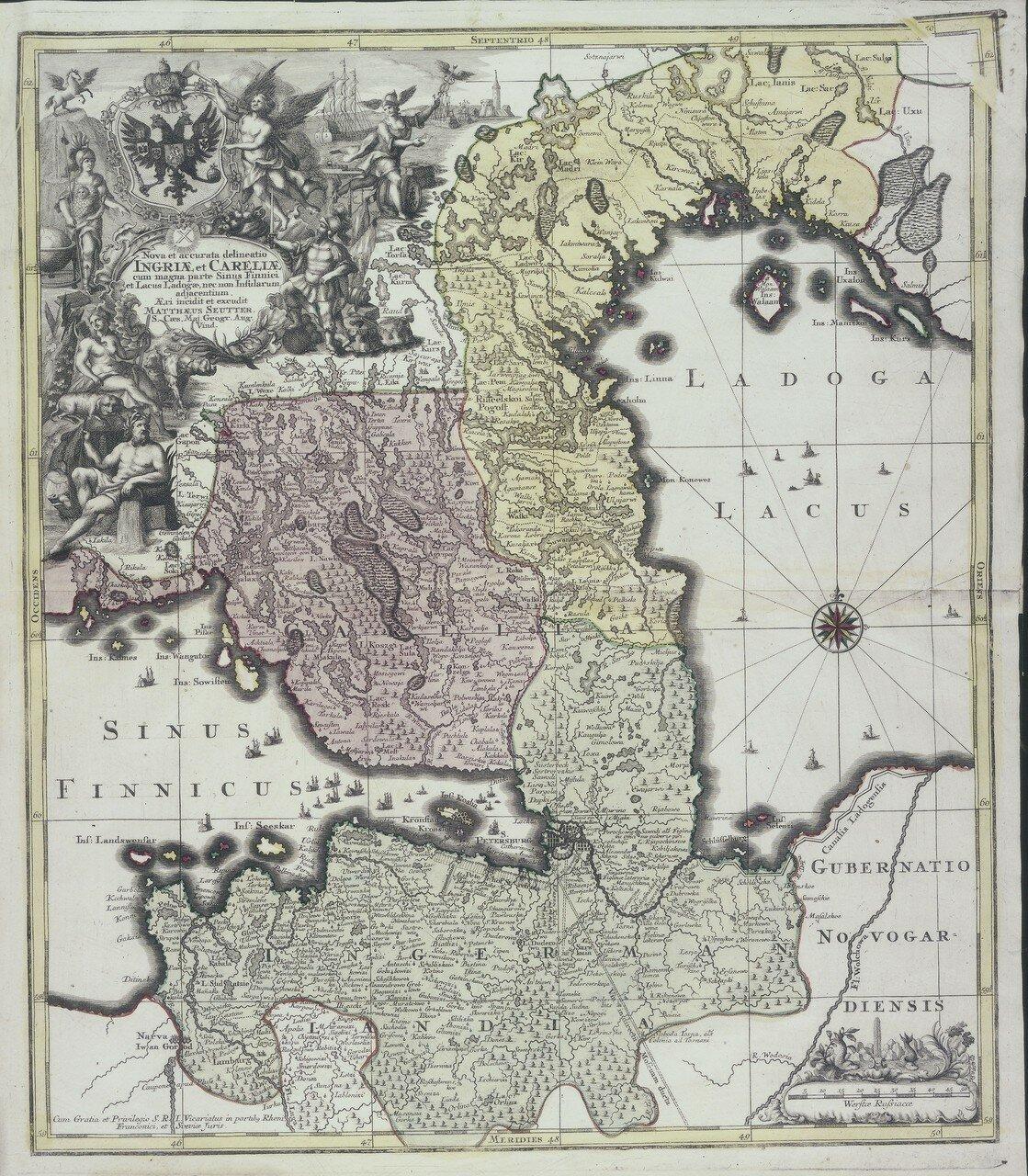 1740. Точное разграничение Финского залива и Ладожского озера
