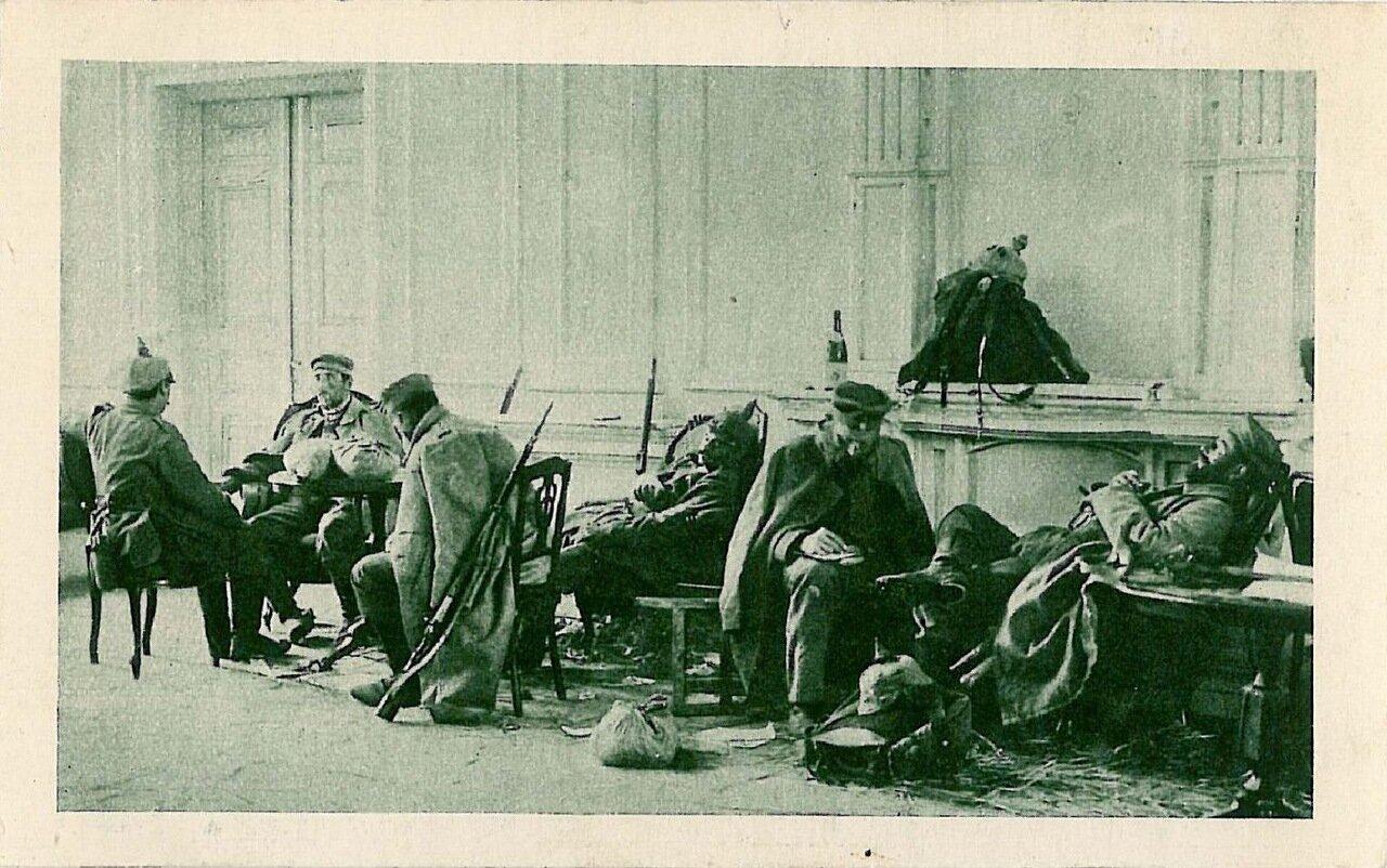 Раненные немецкие солдаты