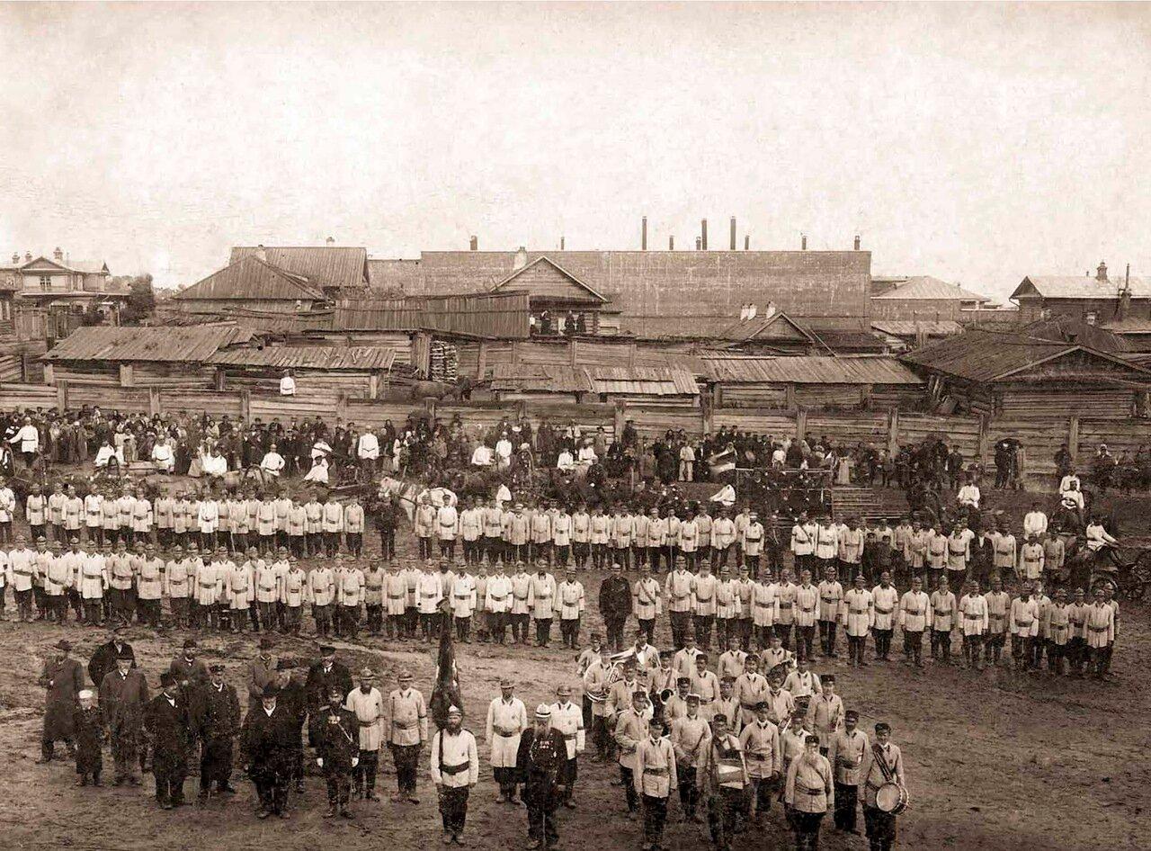 1903. Барнаульское Добровольное Пожарное Общество в день празднования 10-ти летнего юбилея