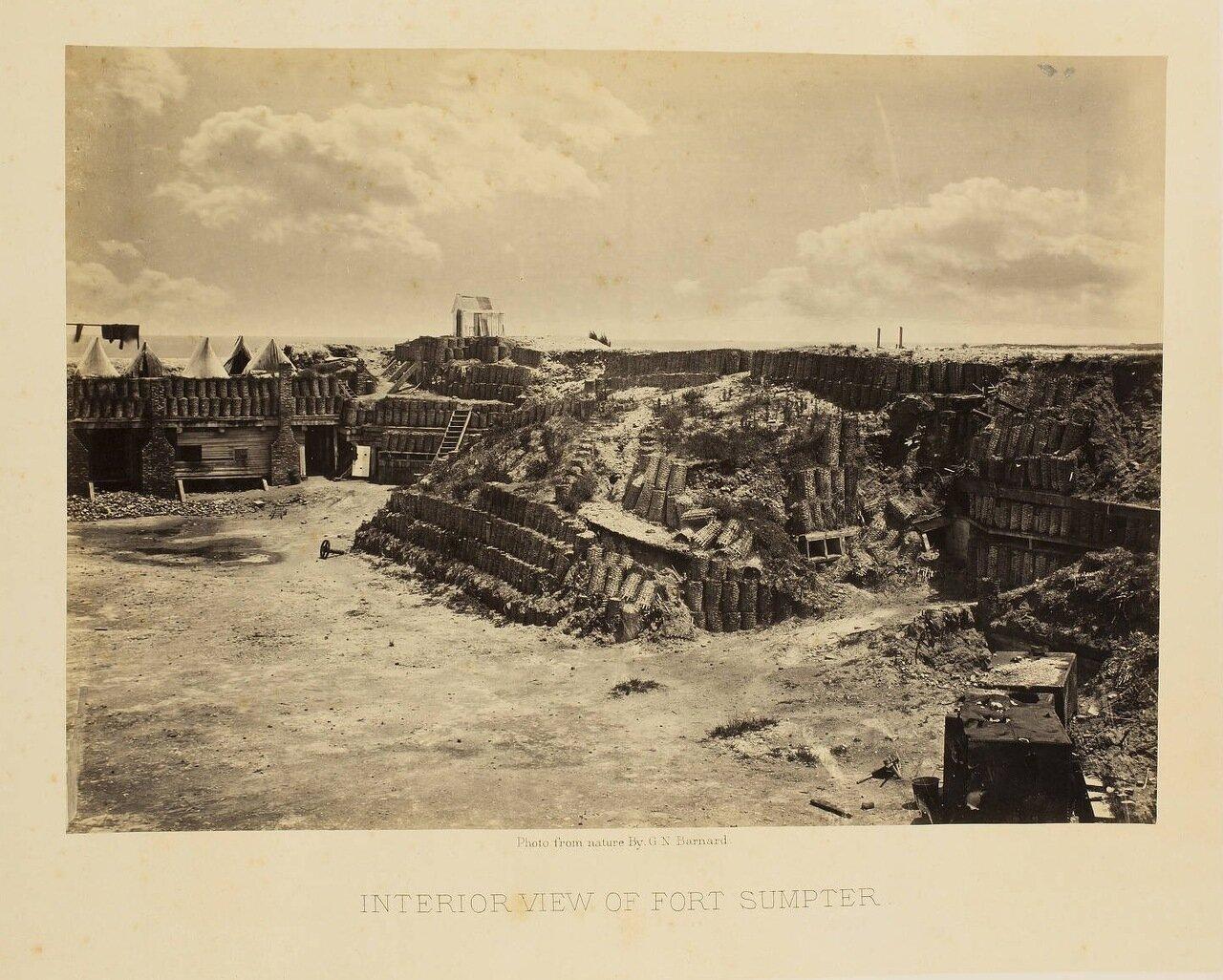 Внутренний вид форта Самтер около города Чарльстон, Южная Каролина