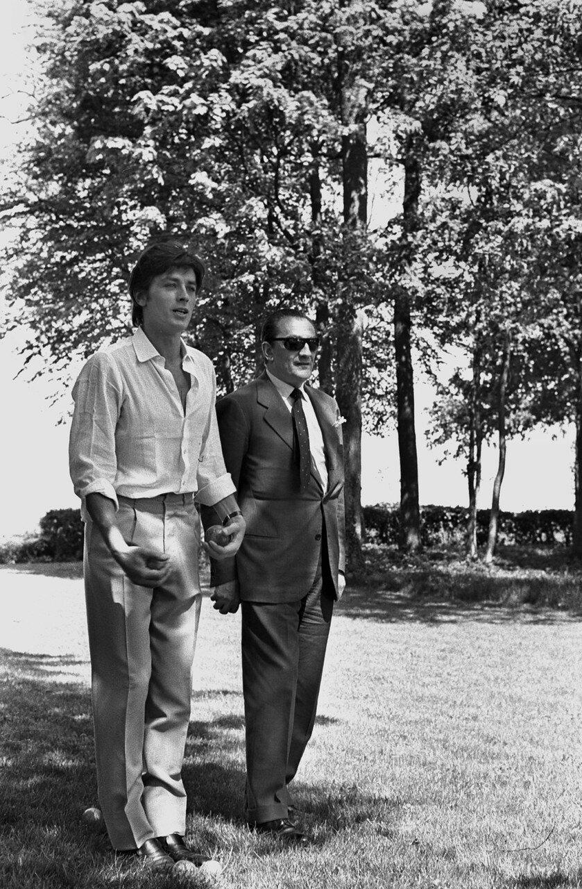 1965. С Лукино Висконти