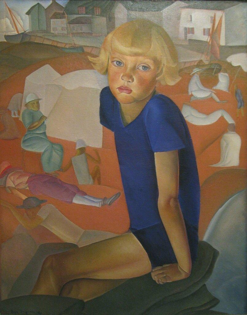 Портрет Кирилла, сына художника, масло, 1920. Григорьев Борис Дмитриевич (1886-1939),Вустерский музей искусств, город Вустер, США