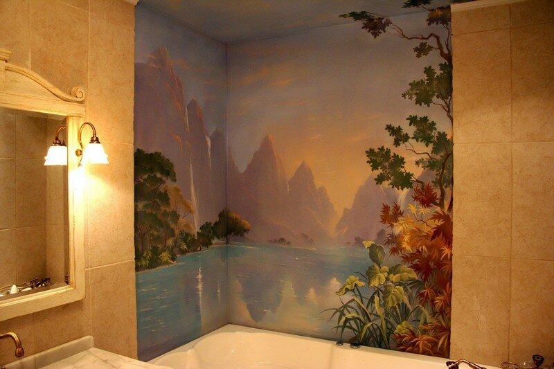 Роспись стен квартира своими руками