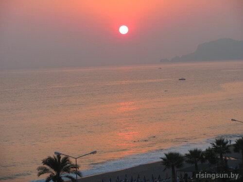 Закат на Средиземном море в Турции