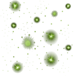 Green Glowing Stars PNG1000x1000.png