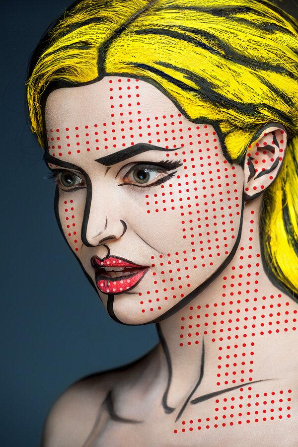 Восхитительный фейс-арт от Александра Хохлова (27 фото)