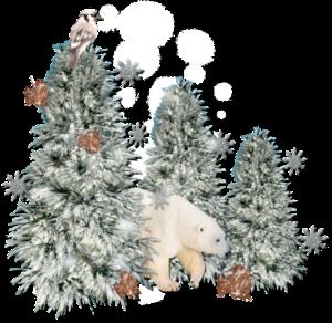 мишка в елках