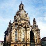 Фрауэнкирхе и памятник Мартину Лютеру