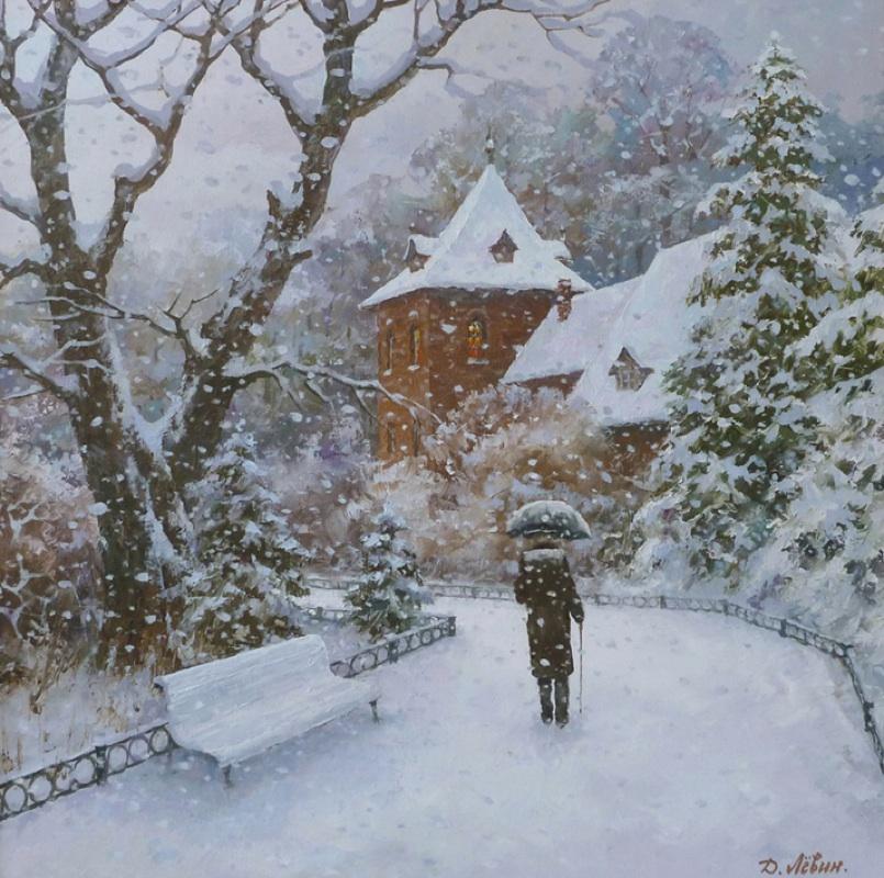 Зимние пейзажи / художник Дмитрий Лёвин