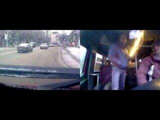 ДТП в Запорожье 23.01.2014 г. Вид из маршрутки.