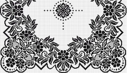 【引用】钩、编、绣花边、桌布图纸 - 秋林红叶 - 秋林红叶