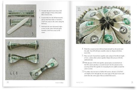 Декор упаковки в виде денежной розетки