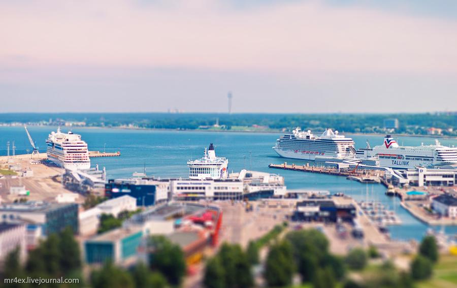 Эстония, Таллин, Tallinn, Estonia, tilt-shit, panorama Estonia, порта Таллина