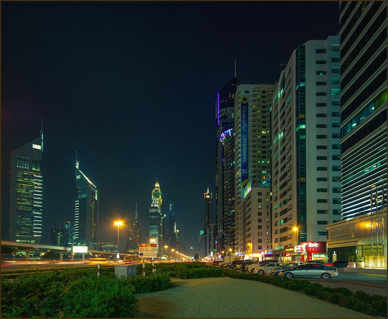 Ночной Дубаи