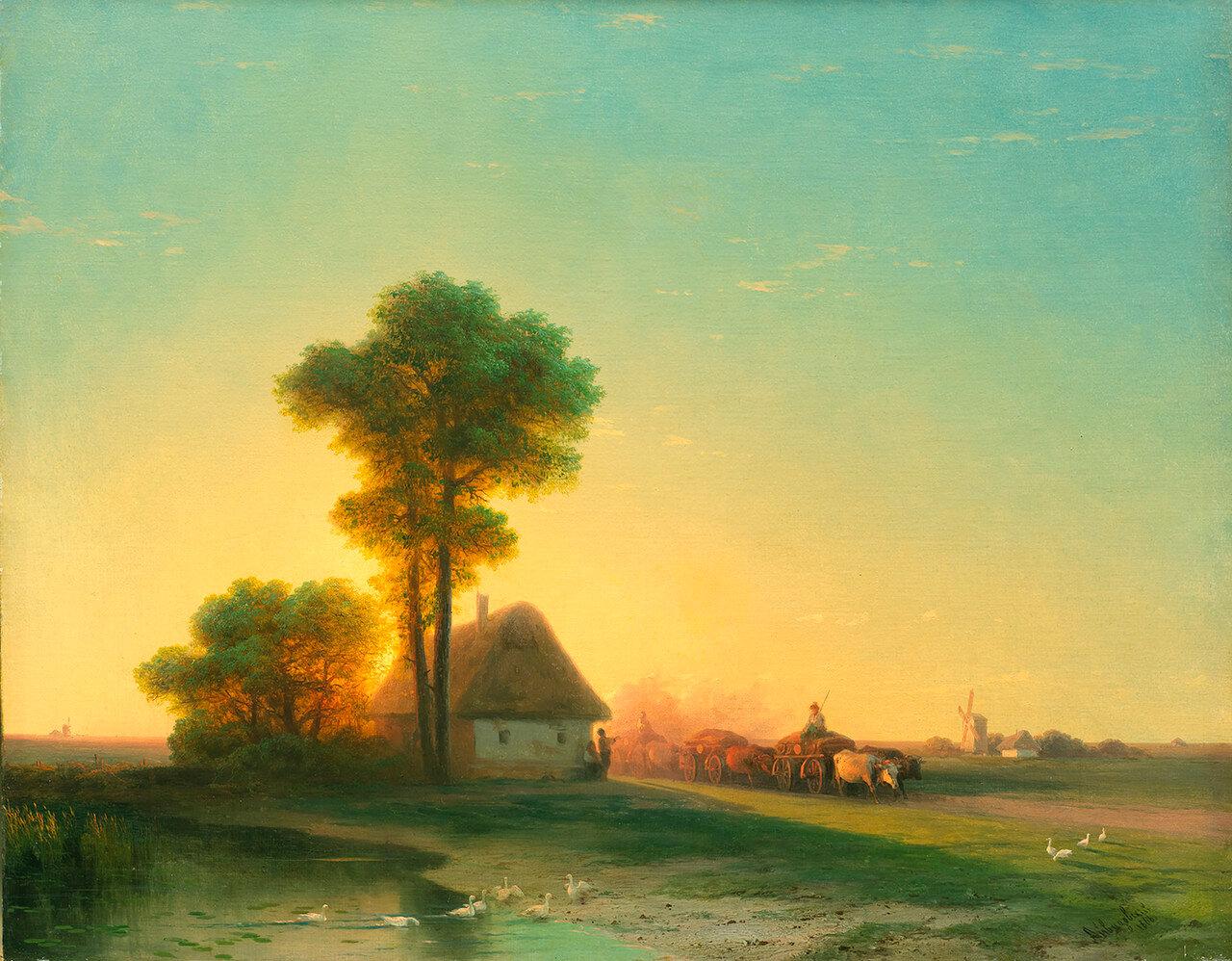 Айвазовский Иван Константинович. «Вечер на Украине». 1866.