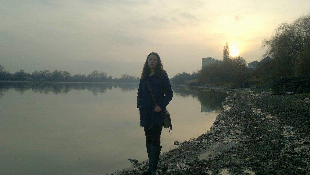 Январский закат на берегу Кубани