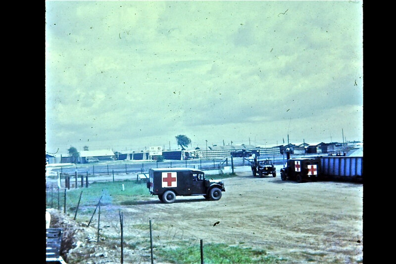 45TH MED EVAC HOSPITAL IN TAY NINH BASE CAMP