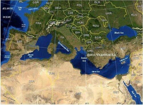 До потопа Средиземное море