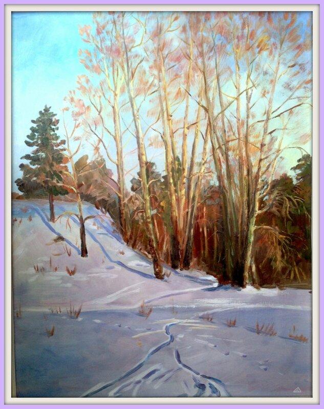 Зимний пейзаж на Томи.
