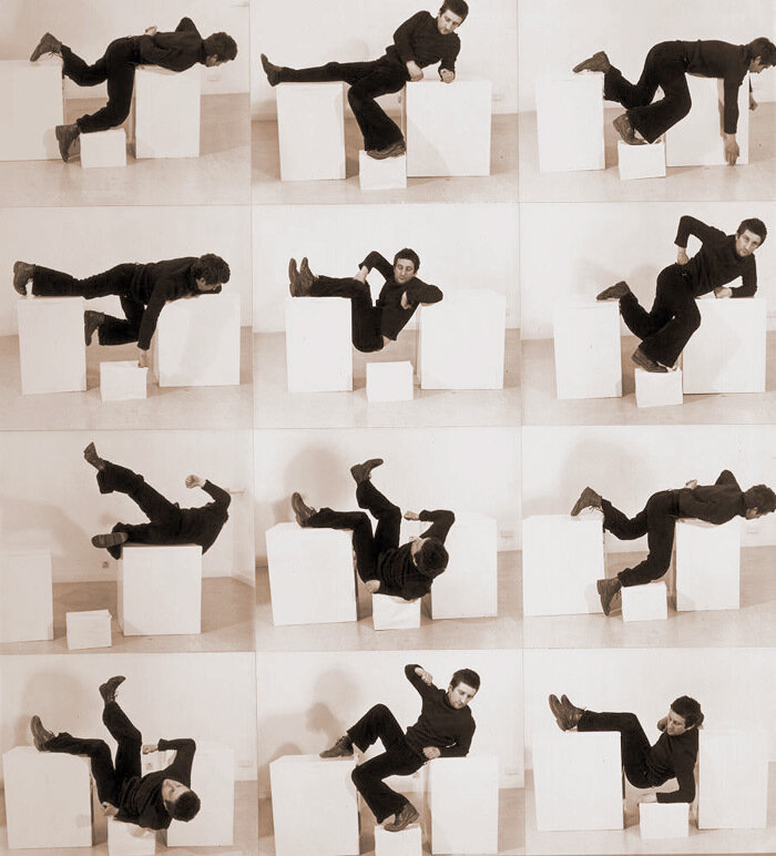 "Bruce McLean, ""Pose Work for Plinths 3"", 1971 © Bruce McLean"