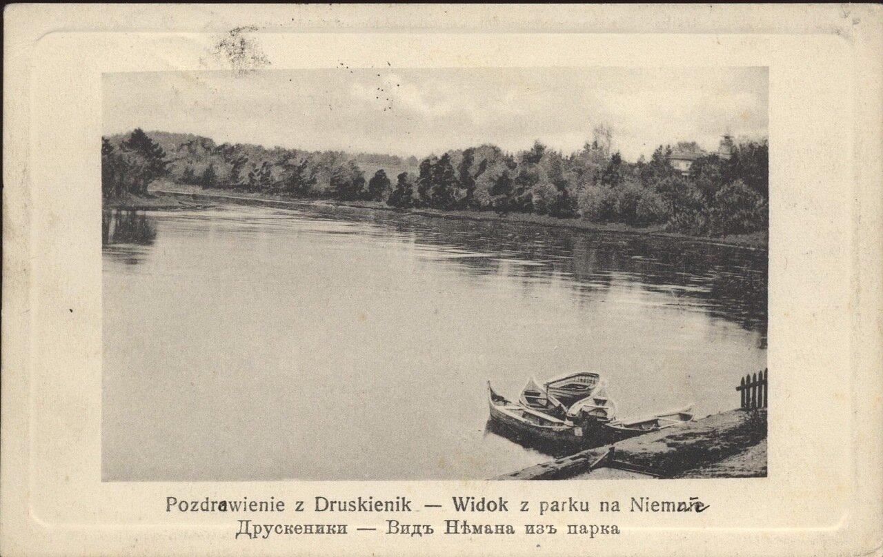 Вид Немана из парка. 1910