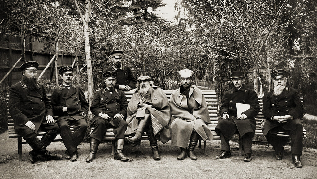 Д. И. Менделеев и П. А. Замятченский на Кушвинском металлургическом заводе. 1899