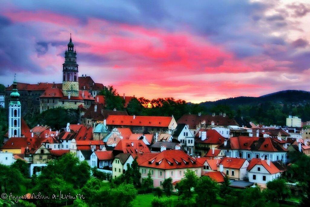 Чехия. Чески Крумлов на закате
