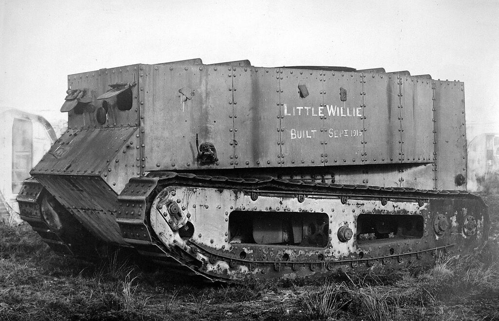 Little Willie, the first experimental tank made, built 1915