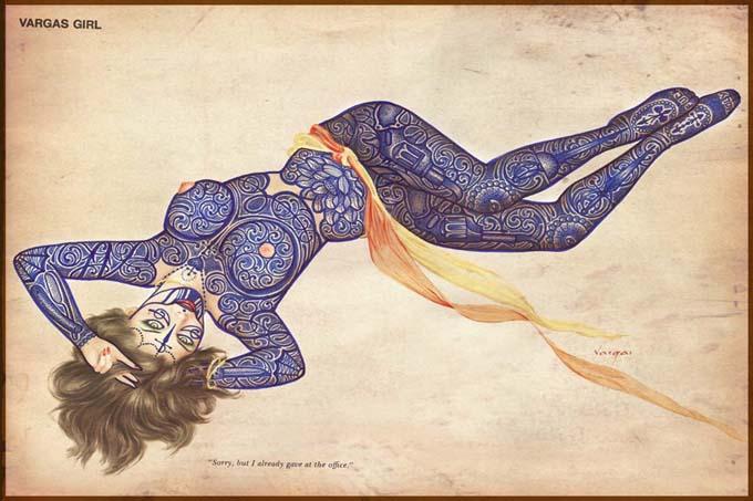 Татуированные девушки со старых открыток
