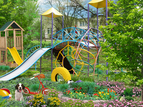 Psd исходник для фотошоп детский сад