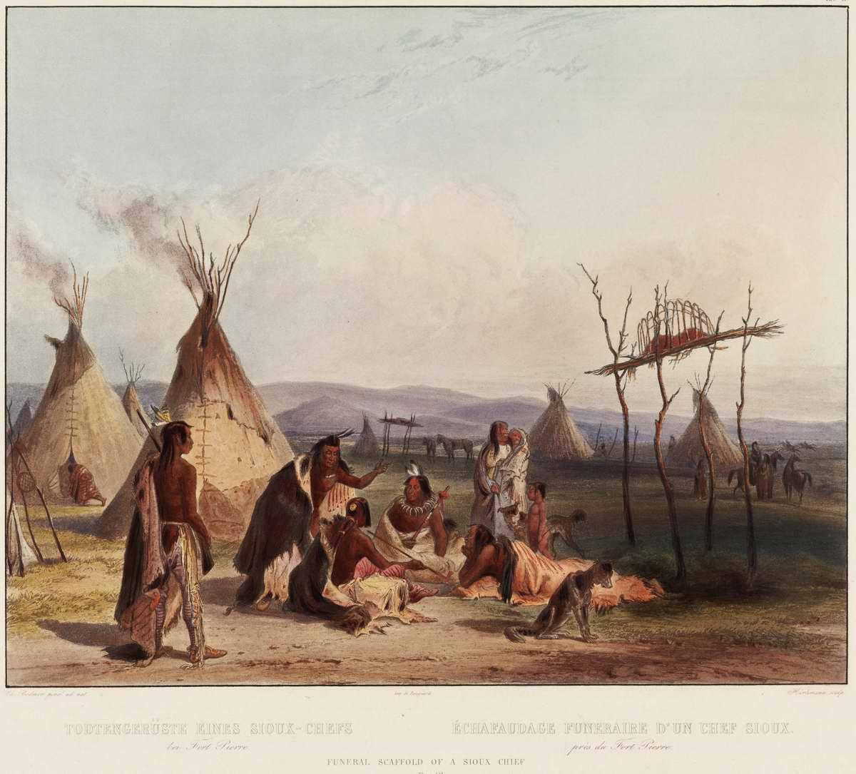 После похорон вождя племени сиу - Karl Bodmer