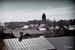 1940-05-19 Изображение устье реки todennkisesti. На заднем плане Ратушная башня где флаг на половину мачты. Примечание: Фото todennkisesti muistojuhlapivlt 19.5.1940 героев. Место: Йоэнсуу