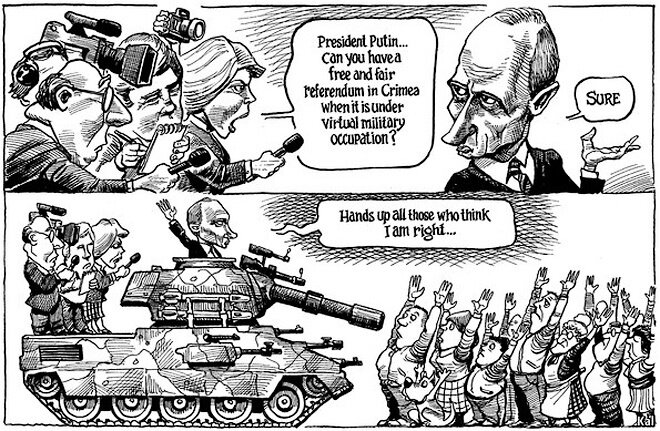 from the Economist, March 15, 2014 © Kevin Kallaugher