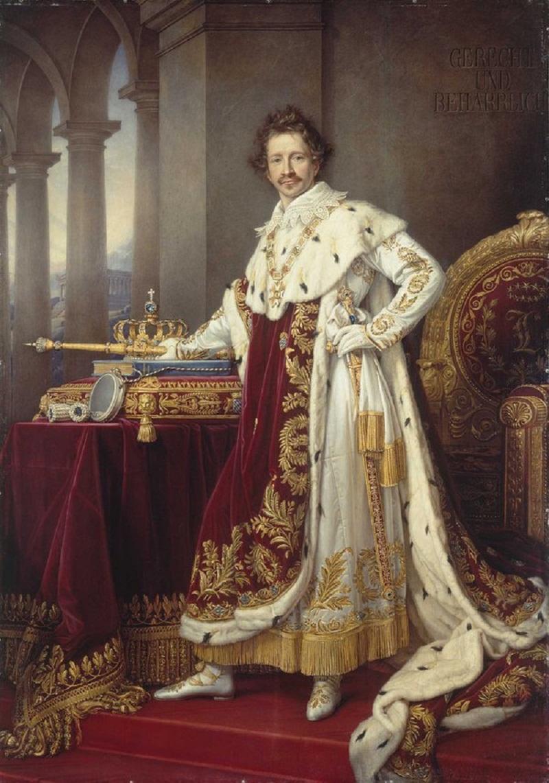 Король Людвиг I Баварский в коронации регалии