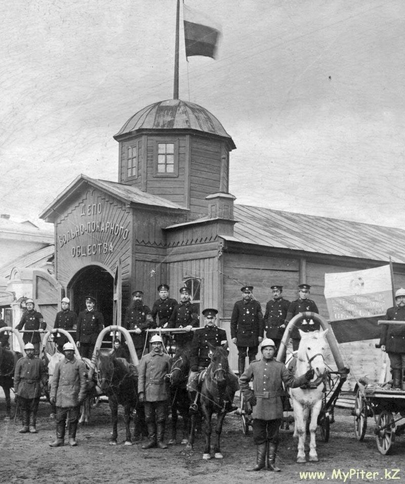 Депо Вольно-пожарного общества.  1909