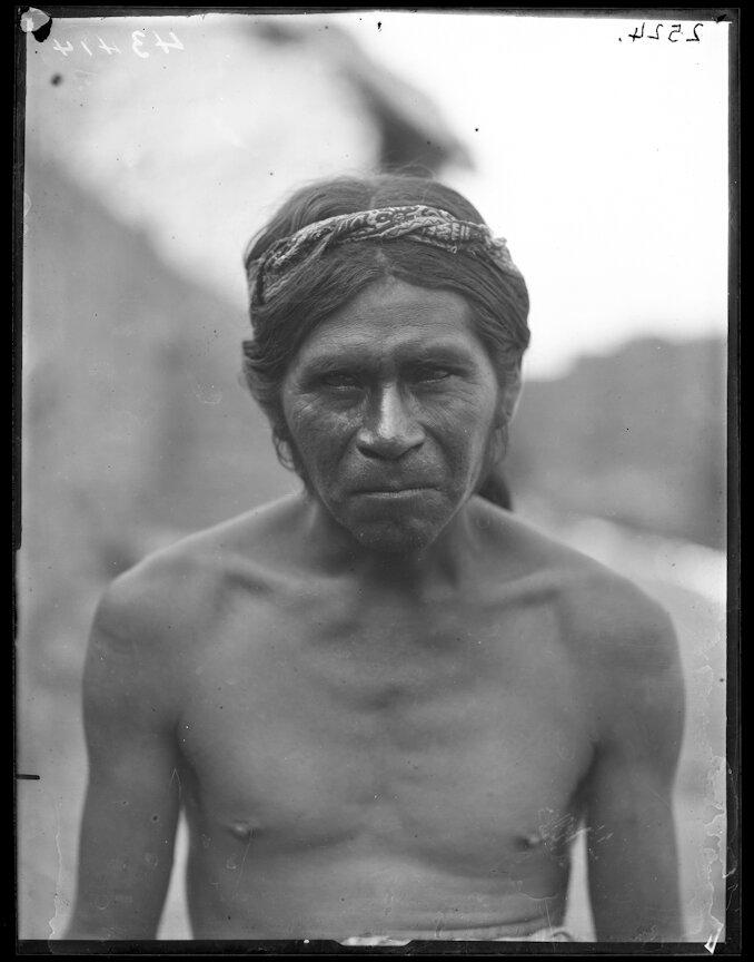 1898. Мужчина из племени Уичоли, отец Маркуса