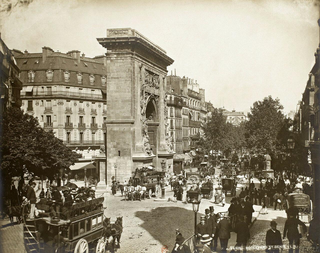 1889. Бульвар Порт Сен-Дени