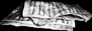 бумажные ноты