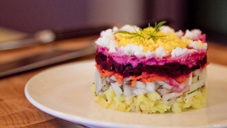вкусный салат селедь под шубой фото