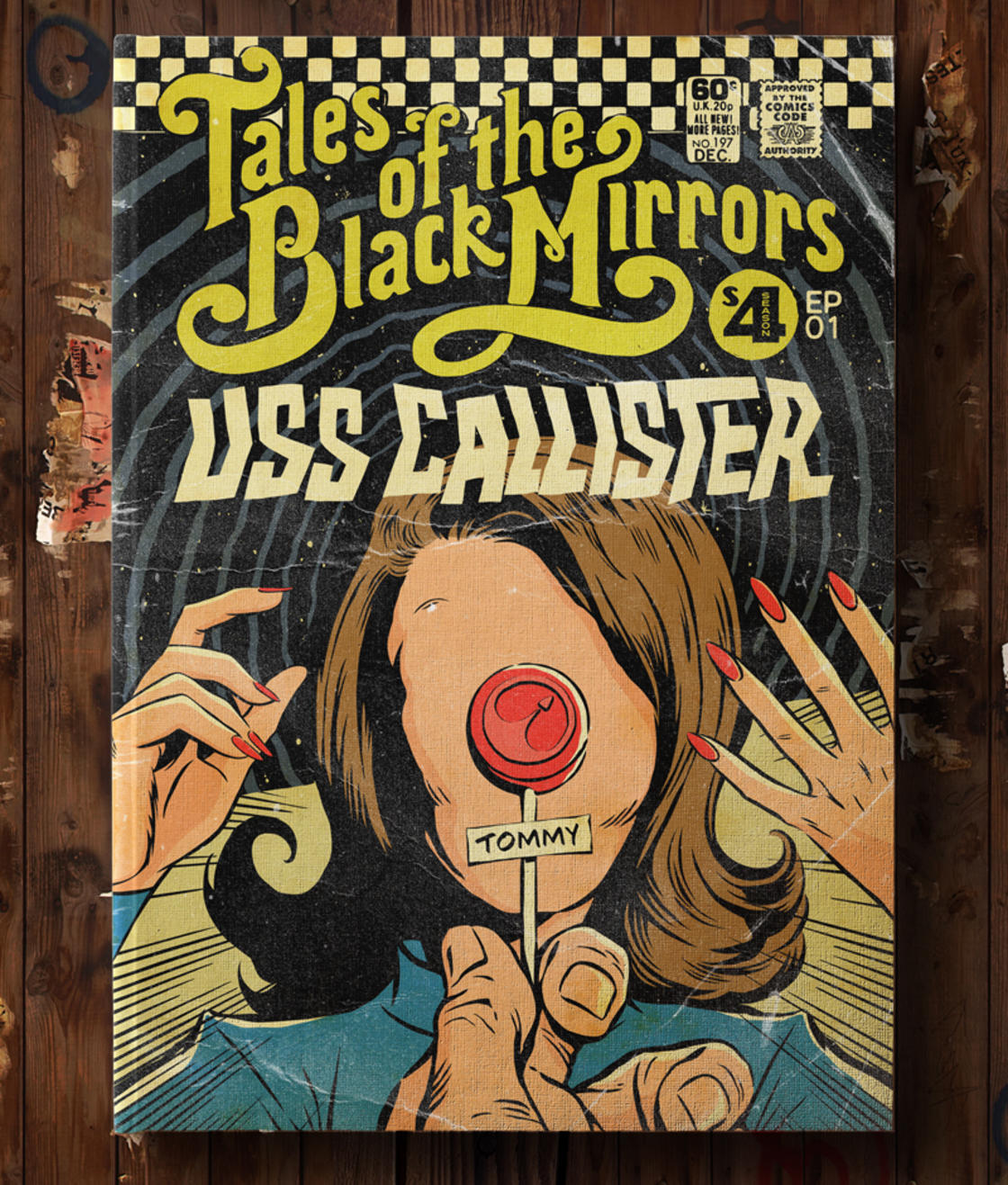 Fictional Comic Book Covers of the TV Series Black Mirror