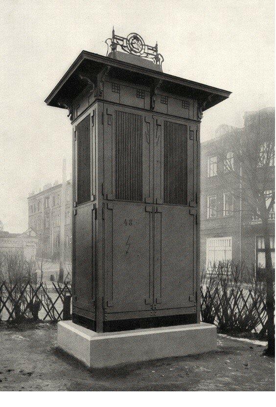 154147 Колонка для двухъ трансформаторовъ. Покровский бульвар у Воронцова поля.jpg