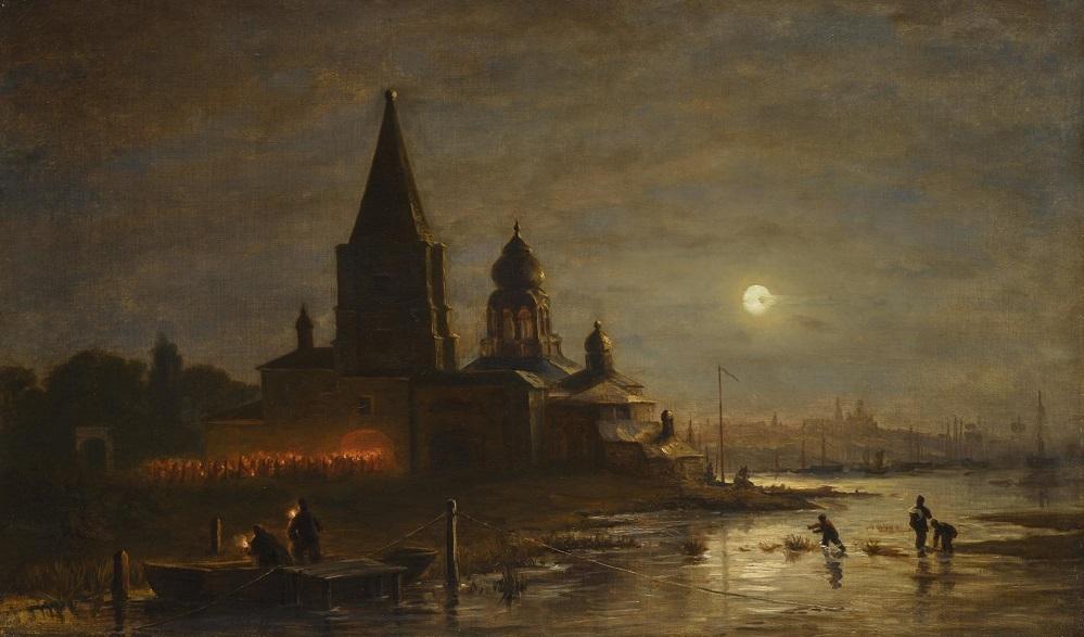 Ночная процессия в Ярославле