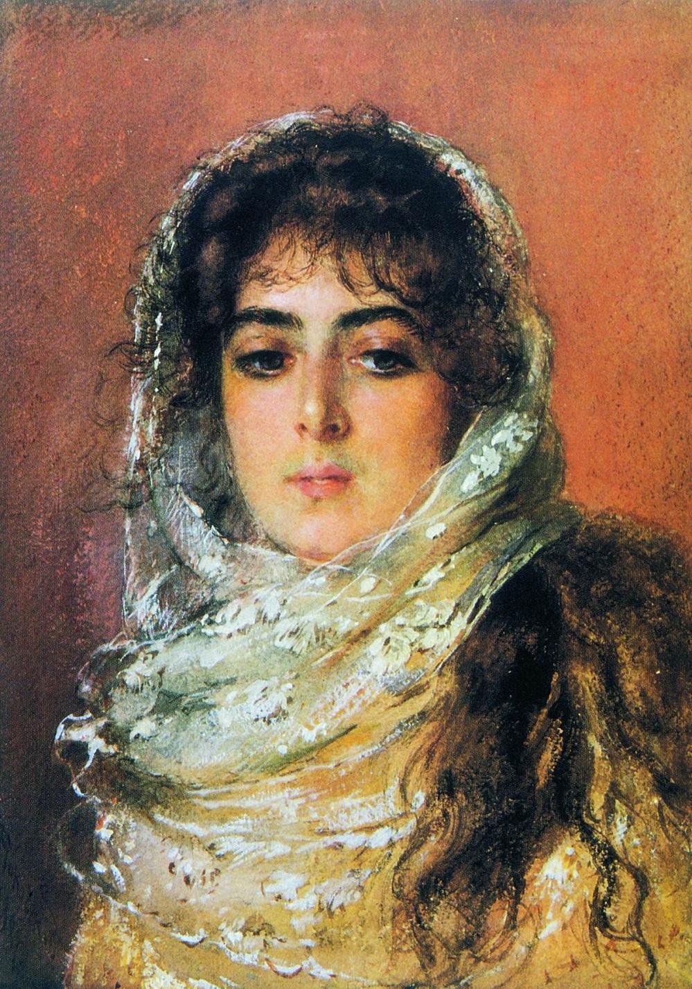 Портрет жены художника Ю.П.Маковской. 1887. Частное собрание