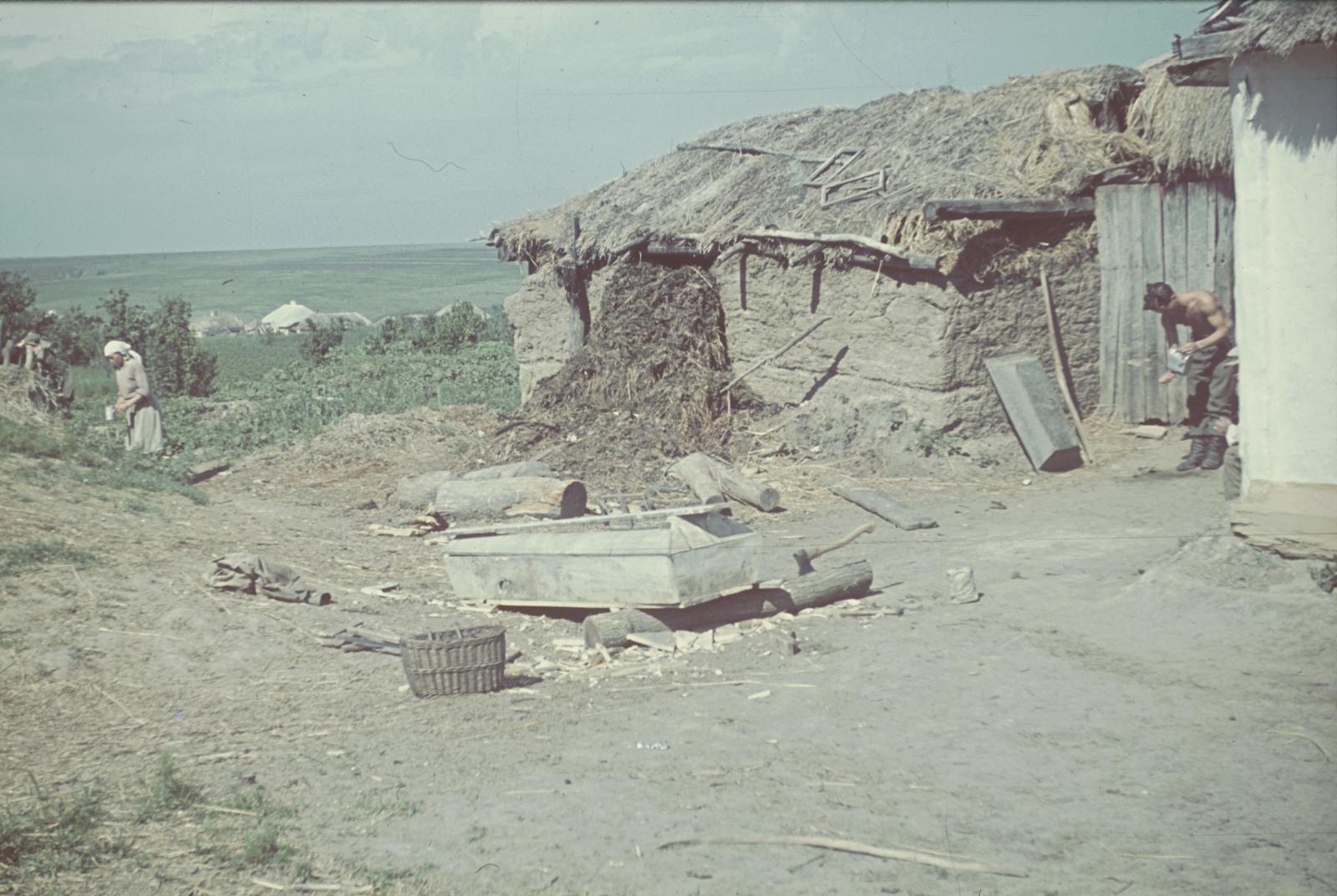 Деревенская изба