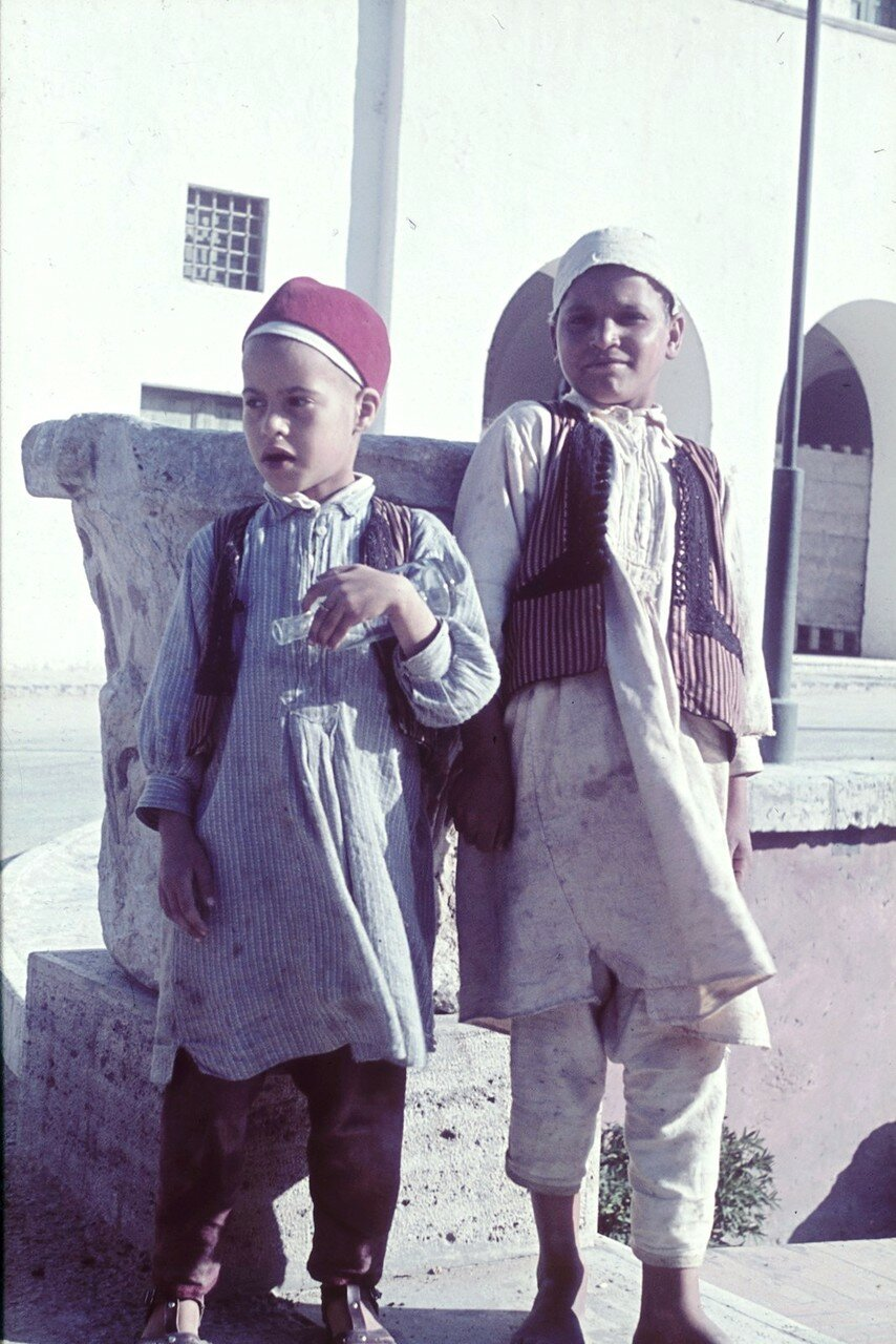 Триполи. Два еврейских мальчика