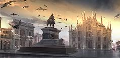 Множество красивых площадей с фонтанами и скульптурами