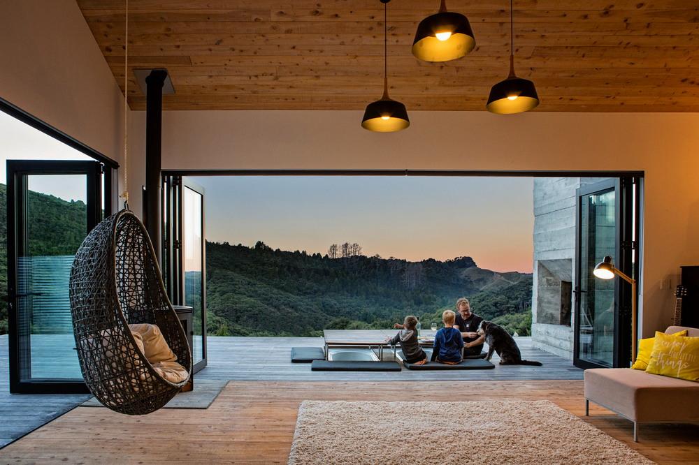 Дом для молодой семейной пары с двумя детьми в Новой Зеландии